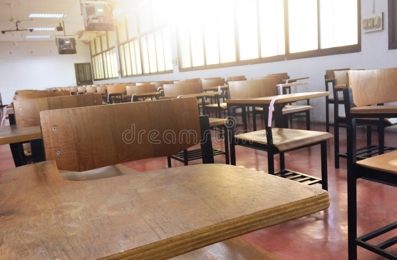 Chairs on my classroom royalty free stock photography