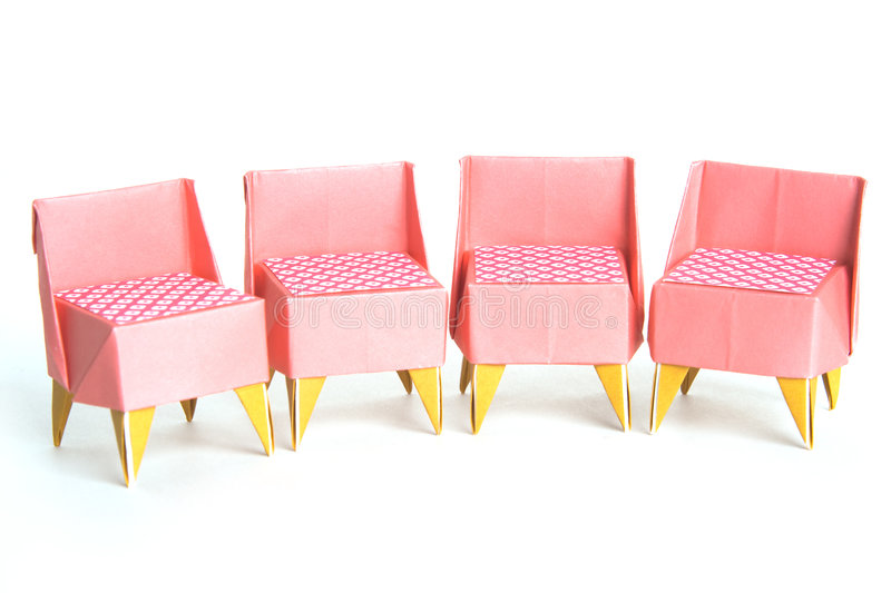 chairs origami royaltyfria bilder