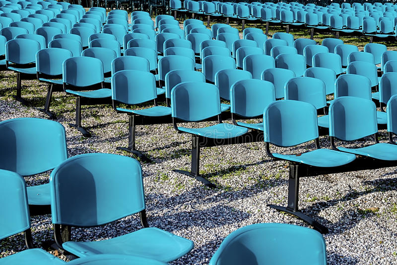 Chairs for outdoor shows.