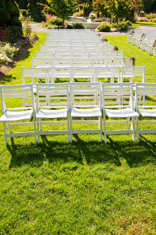 Chairs In A Park Stock Photo