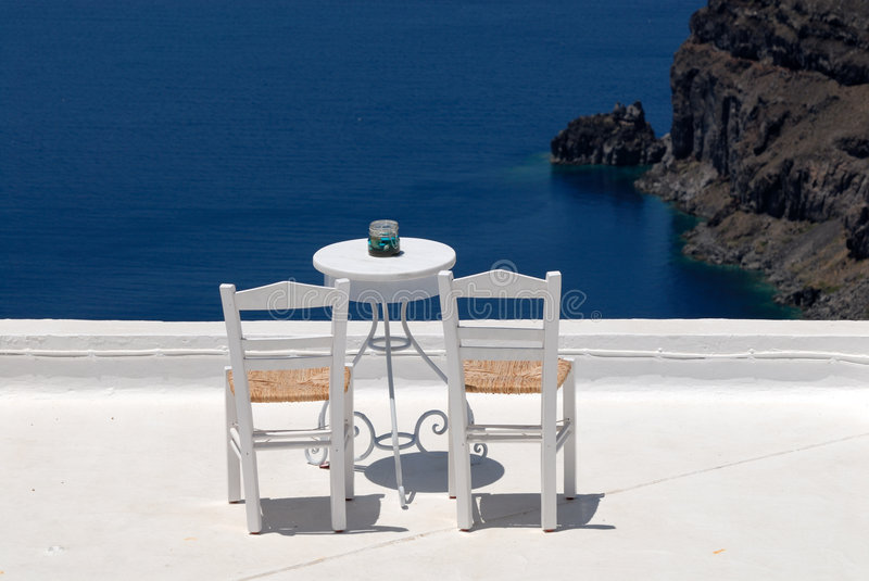 Chairs On The Roof Terrace Royalty Free Stock Photography