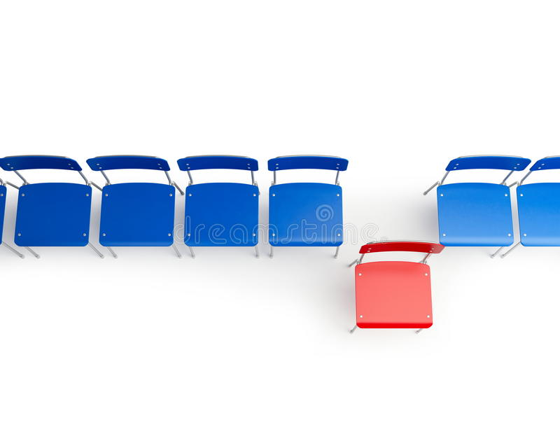 Chairs row royalty free illustration