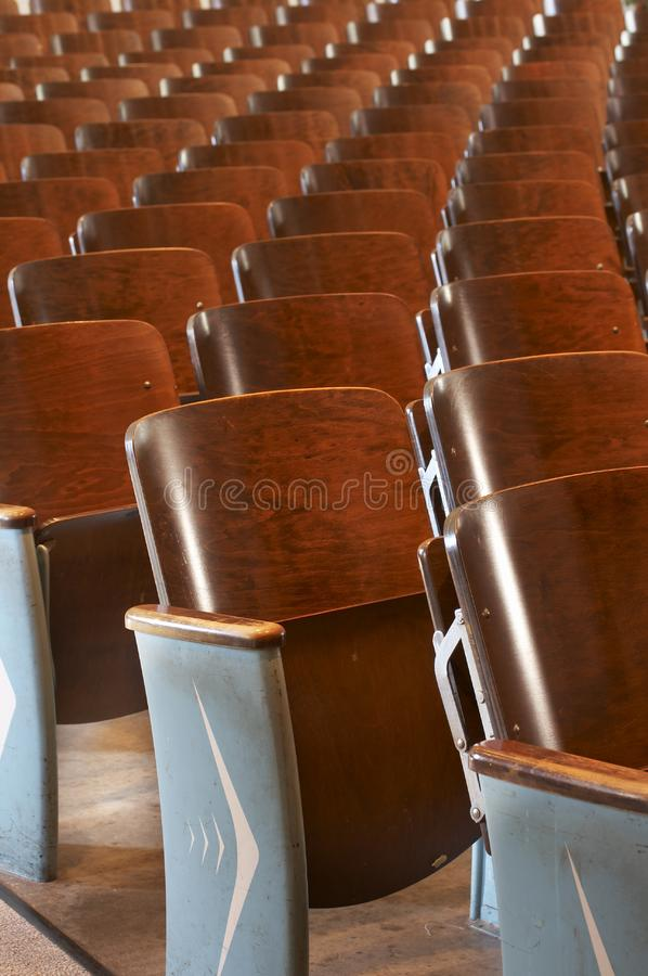 Chairs in a row royalty free stock photo
