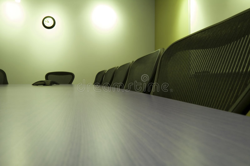 Chairs in a Row in the Conference Room royalty free stock photo