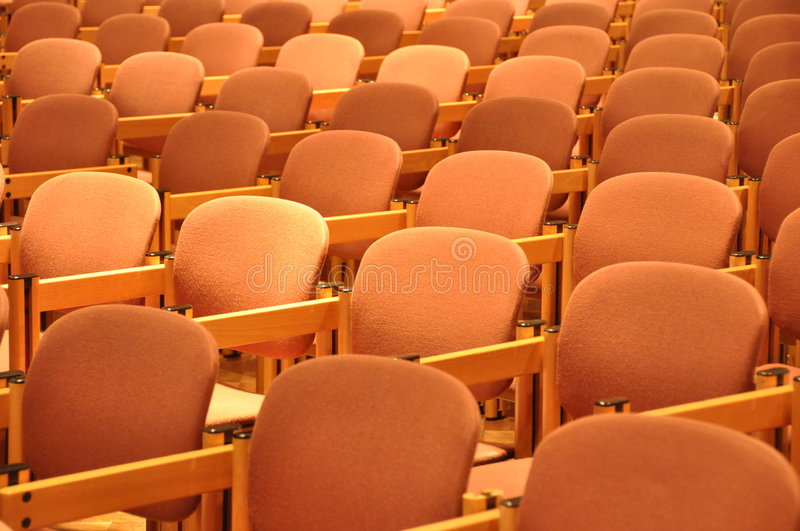 Chairs In Rows Stock Image