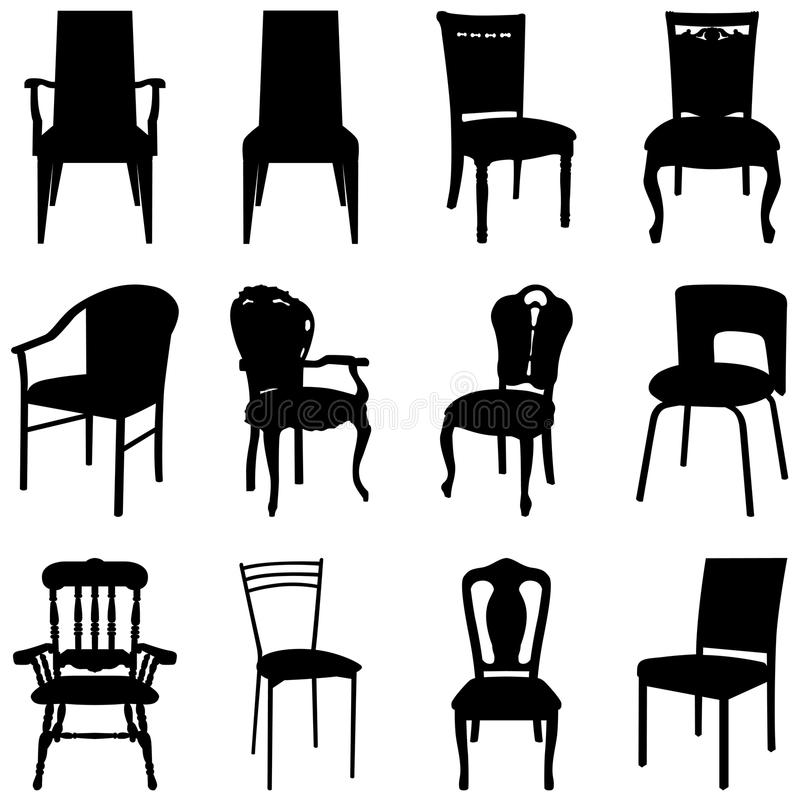 Download Chairs set stock vector. Illustration of office, high - 13138758