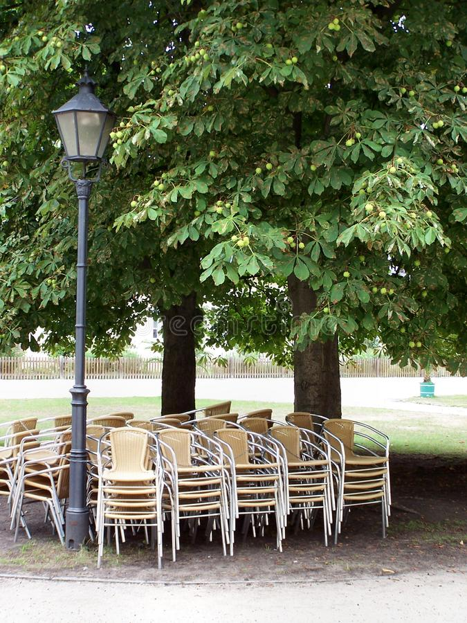 Download Chairs in the shade stock image. Image of yellow, garden - 1118135