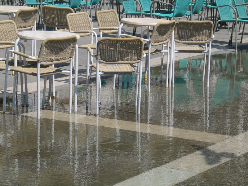 Chairs, St. Mark's Square, Venice stock photography