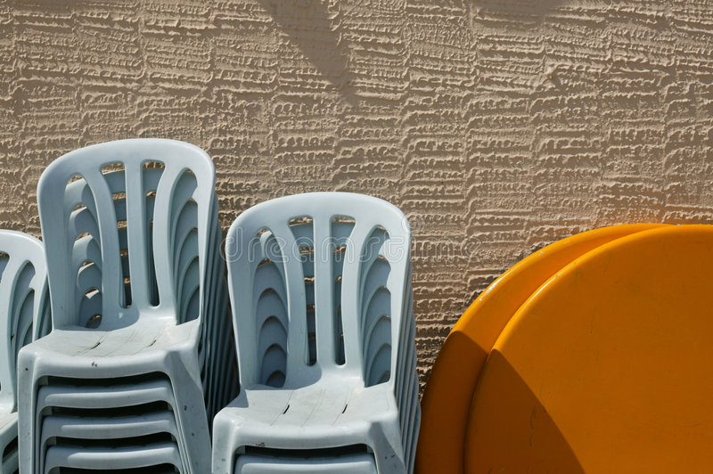 Chairs in the sun royalty free stock photography