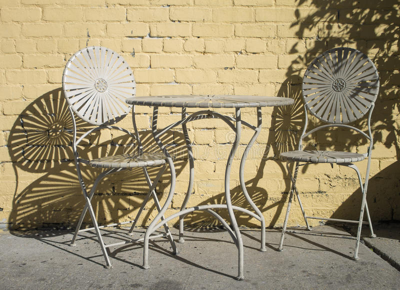 Chairs in the sun royalty free stock image