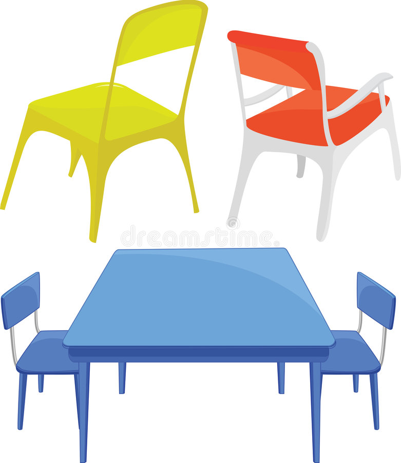 Download Chairs and table stock illustration. Image of armchair - 8487564
