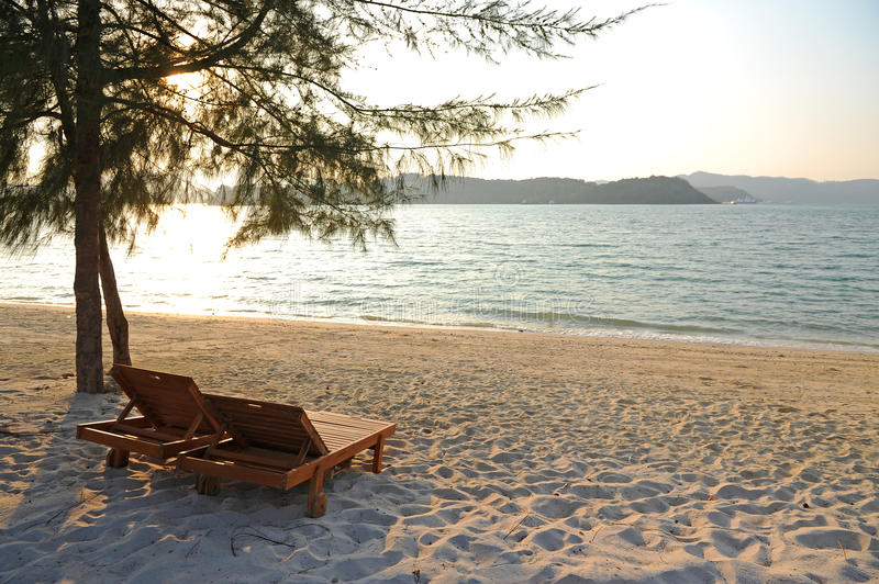 Download Chairs on tropical beach stock photo. Image of coastline - 25065194