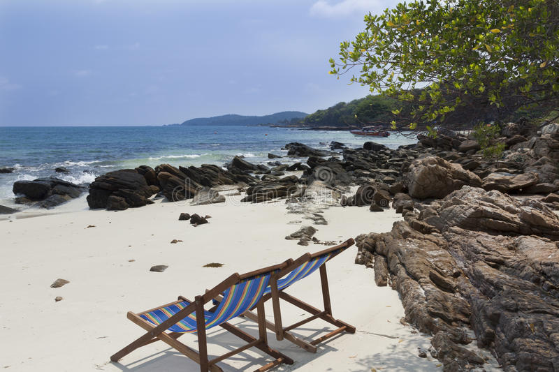 Download Chairs on tropical beach stock image. Image of coast - 27716285