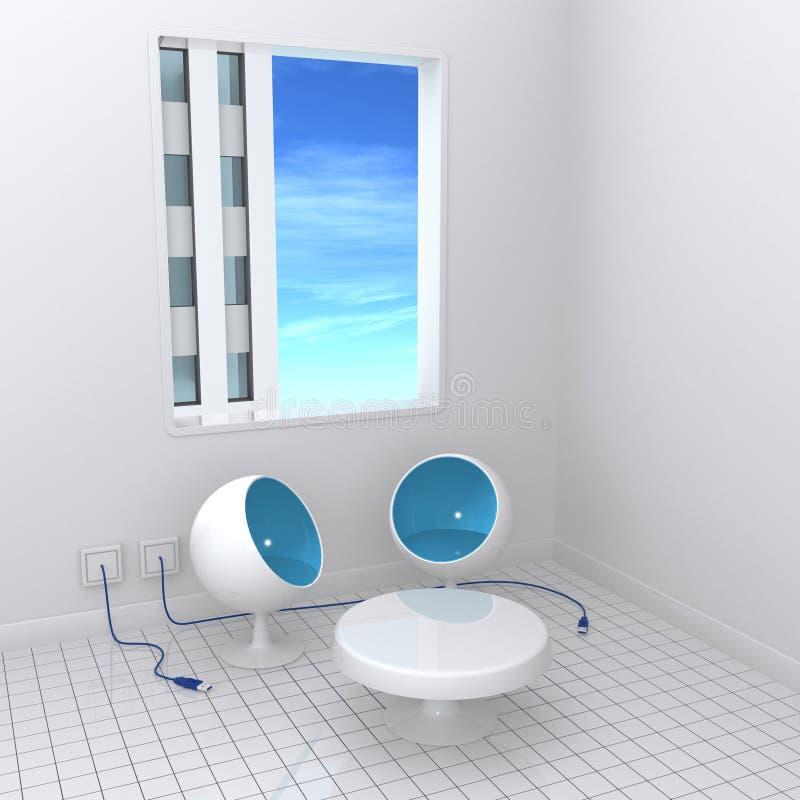 chairs usb royaltyfri illustrationer