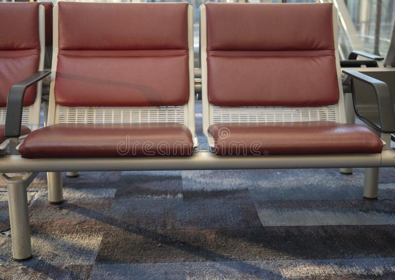 Chairs in the waiting area. The chairs in the waiting area royalty free stock photos