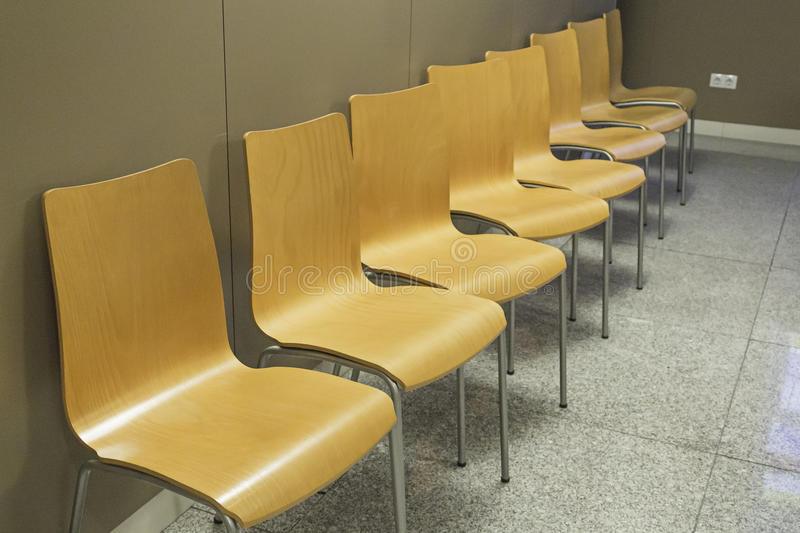 Chairs in waiting room stock image