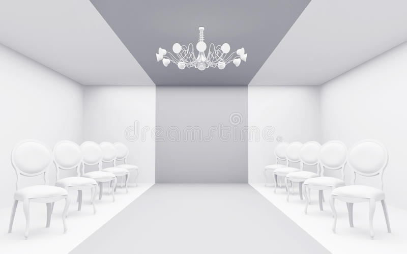 Chairs in white room royalty free stock image