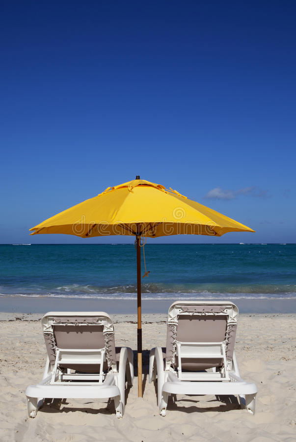 Free Chairs With A Beach View Stock Photos - 22080303