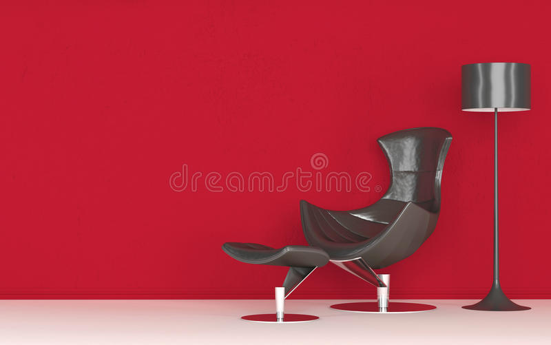 Chaise élégante moderne de recliner illustration stock