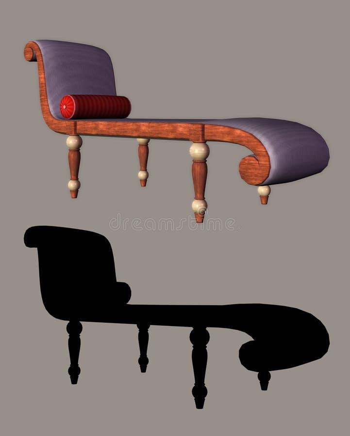 chaise stock illustrationer