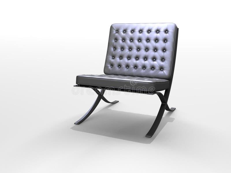 Chaise avec le siège piqué illustration libre de droits