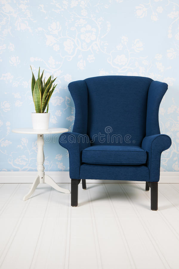 Chaise bleue image stock