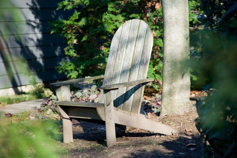 Chaise d'Adirondack photographie stock libre de droits