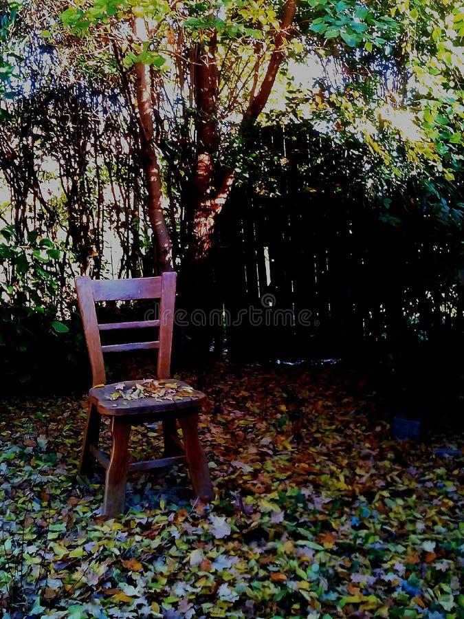Chaise d'automne images libres de droits