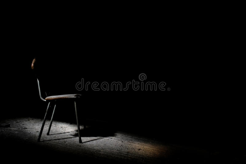 Chaise d'interrogation image stock