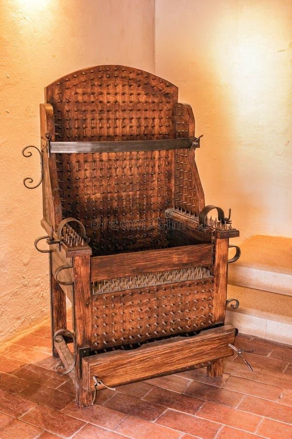 Chaise d'interrogation chez Castro Marim Castle, Algarve, Portugal photos stock