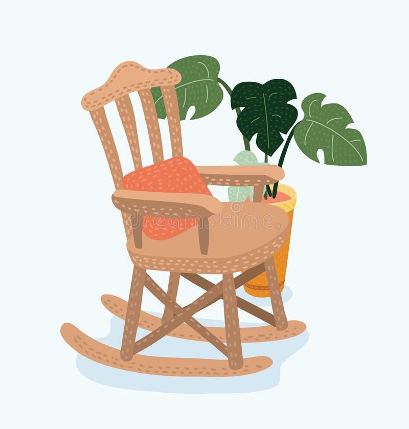 Chaise de basculage Illustration plate de vecteur de style illustration de vecteur