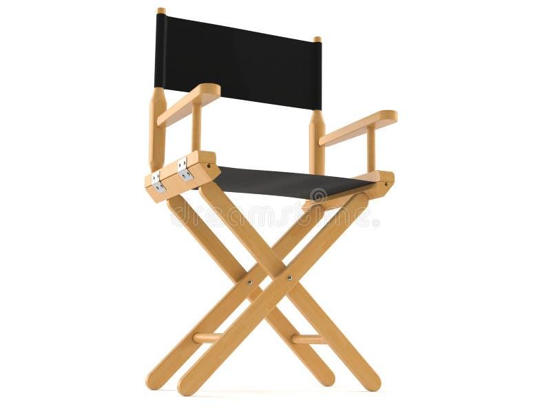 Chaise de cinéaste illustration de vecteur