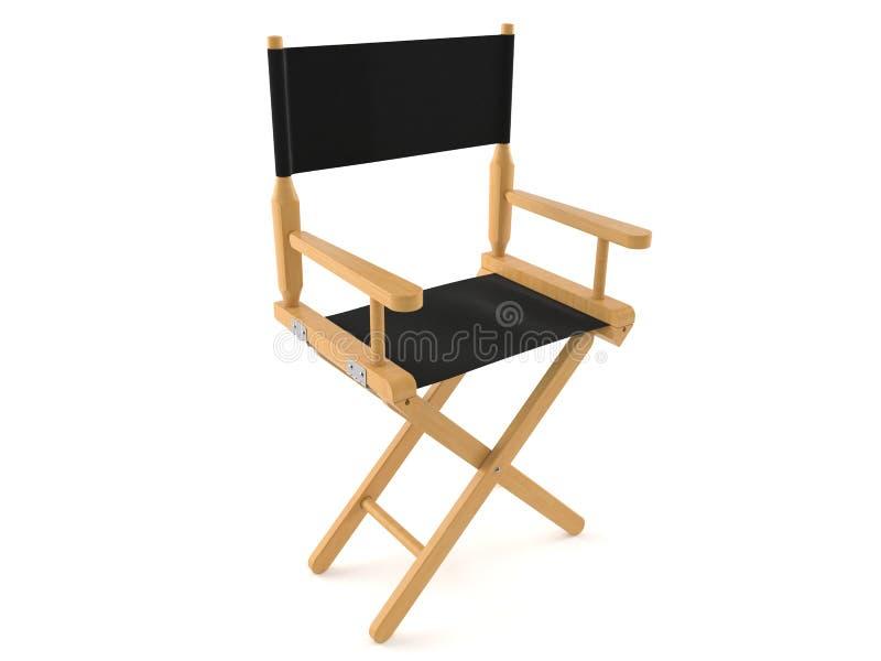 Chaise de cinéaste illustration stock
