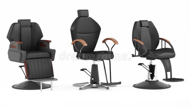 Chaise de coiffeur d'isolement Station thermale de salon illustration de vecteur