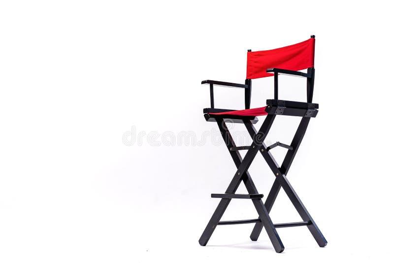 Chaise de couleur rouge, chaise en plastique, en bois, en cuir, concepteur moderne Chaise d'isolement sur le fond blanc Série de photos libres de droits