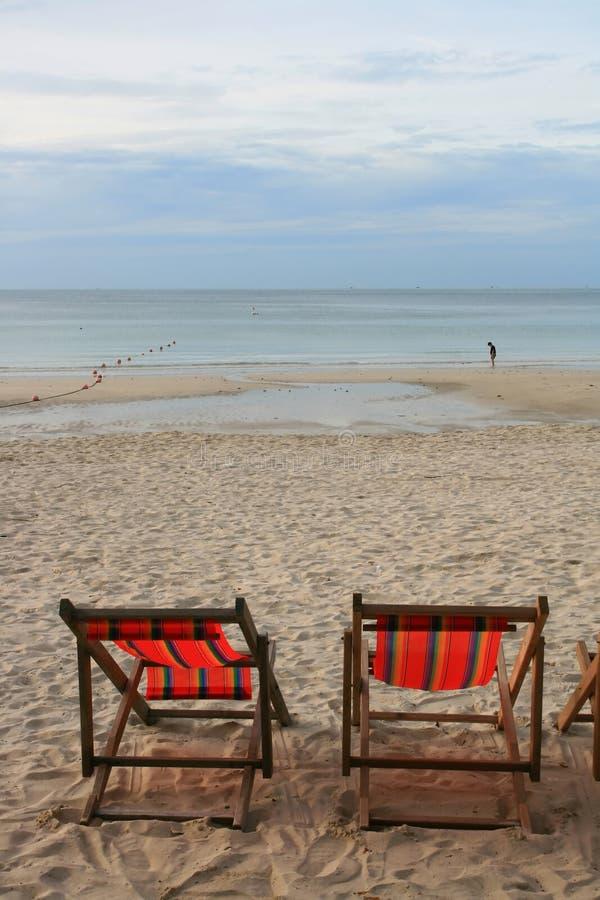 Chaise de plage photographie stock libre de droits