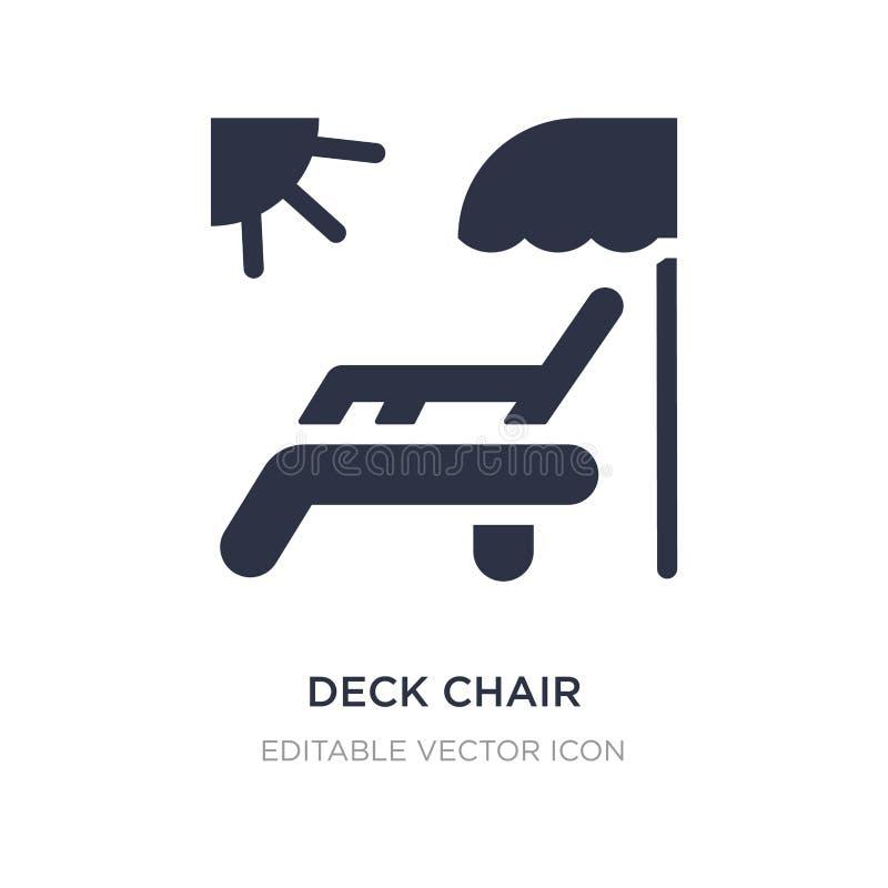 chaise de plate-forme sous l'icône du soleil sur le fond blanc Illustration simple d'élément de notion générale illustration stock