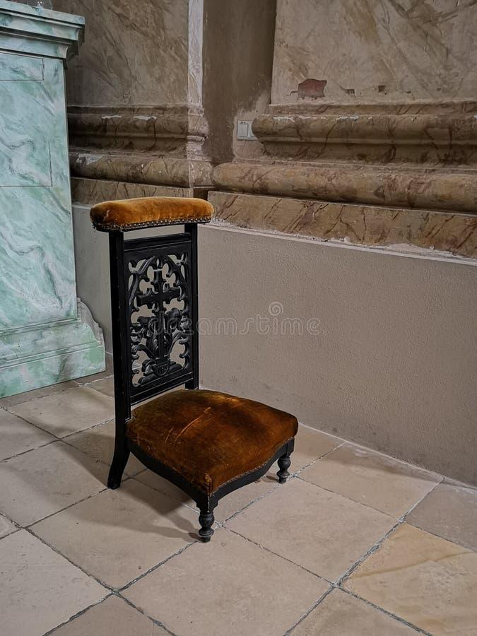 Chaise de prière photo stock