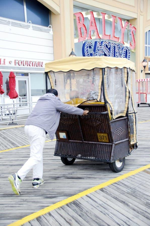 Chaise de roulement d'Atlantic City photographie stock libre de droits
