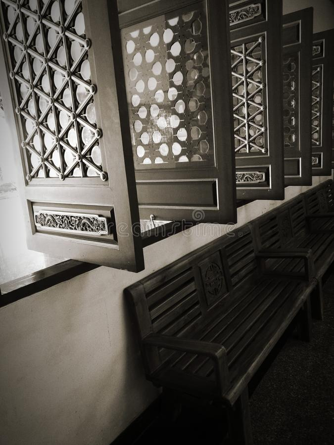 Chaise de solitude photographie stock