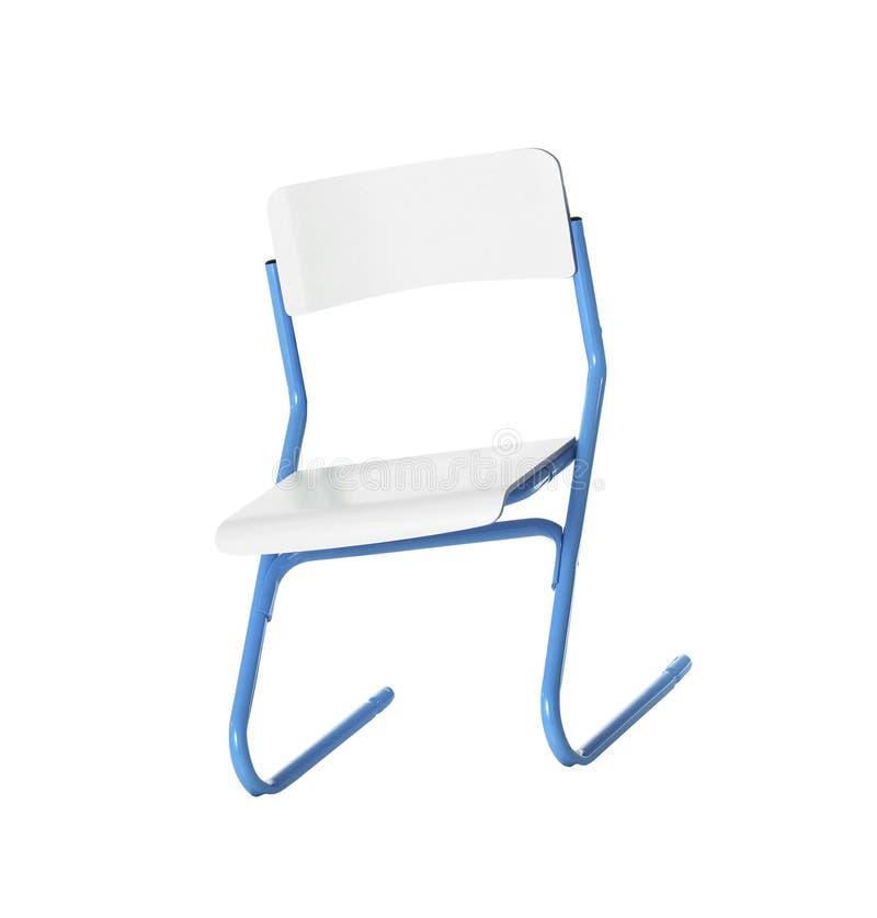 Chaise en bois d'école, d'isolement photos libres de droits