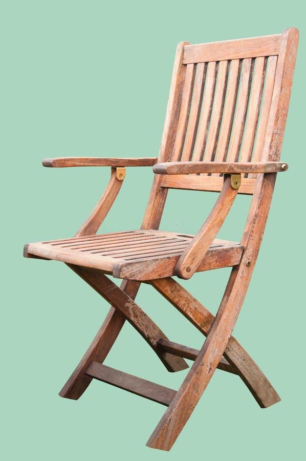 Chaise en bois d'isolement image libre de droits
