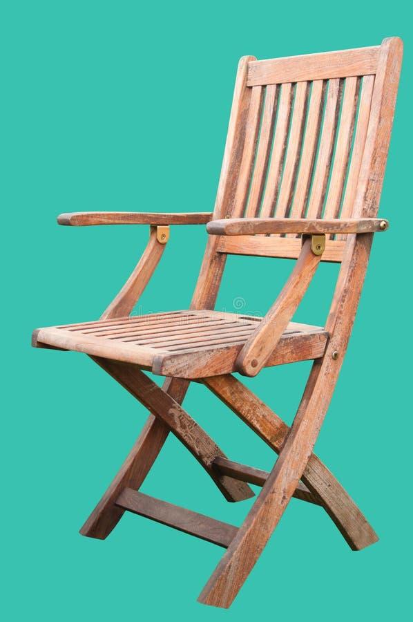 Chaise en bois d'isolement photo stock