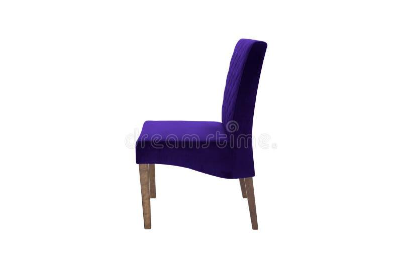 Chaise en bois de couleur Objet d'isolement du fond images stock