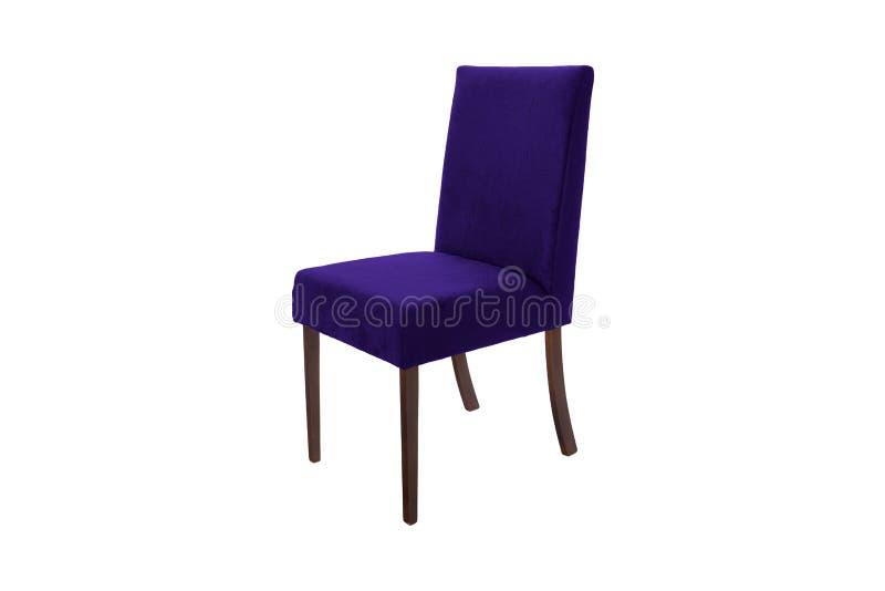 Chaise en bois de couleur Objet d'isolement du fond image stock