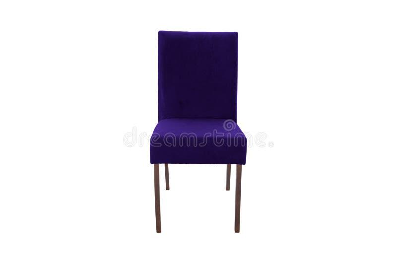 Chaise en bois de couleur Objet d'isolement du fond image libre de droits