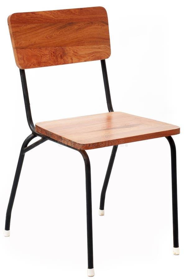 Chaise en bois et en métal image stock