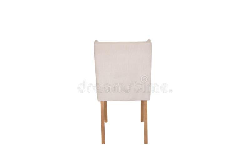 Chaise en bois Objet d'isolement du fond images stock
