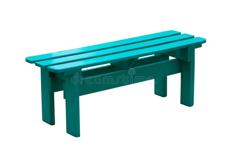 Chaise en bois verte d'isolement sur le fond blanc. image stock