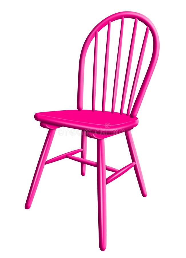 Chaise en plastique d'isolement - rose illustration libre de droits